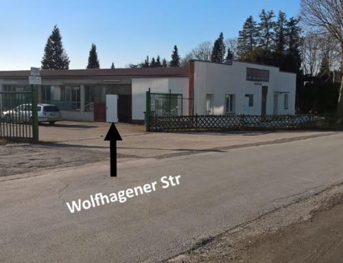 Eröffnung des neuen Möbellagers in der Wolfhagener Straße