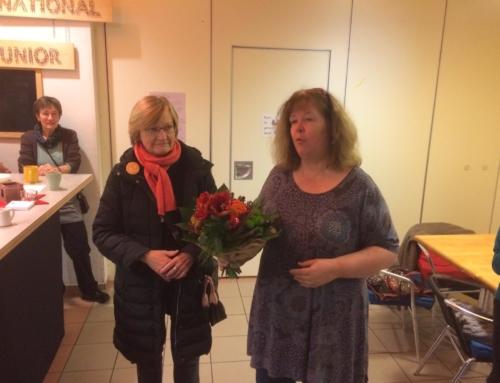Dank an Claudia Stracke für die Arbeit im Café International