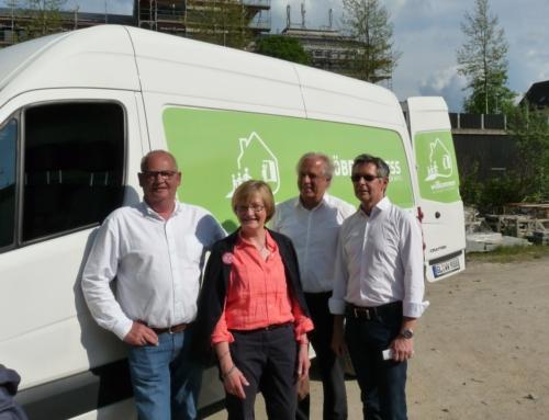 Das Transportfahrzeug von WkiWk – Ein Dank an das Autohaus Messink und die IHK